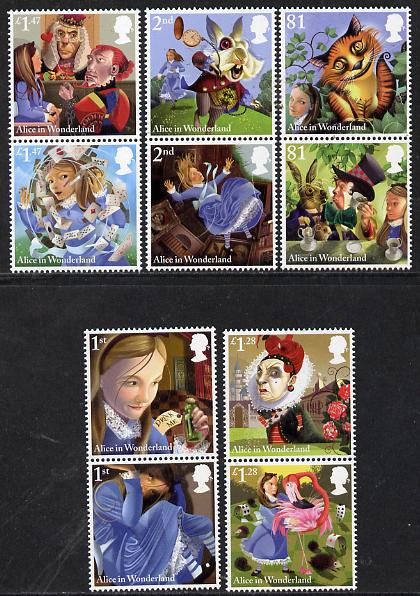 Great Britain 2015 Alice In Wonderland set of 10 unmounted mint