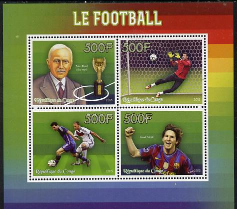 Congo 2015 Football perf sheetlet containing set of 4 unmounted mint