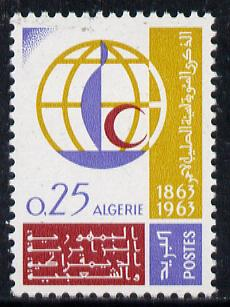 Algeria 1963 Red Cross Centenary unmounted mint, Yv 383*
