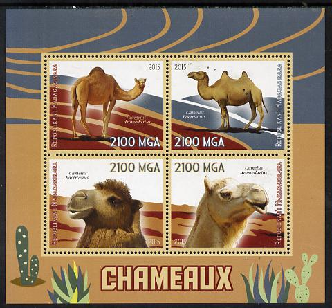 Madagascar 2015 Camels perf sheetlet containing 4 values unmounted mint