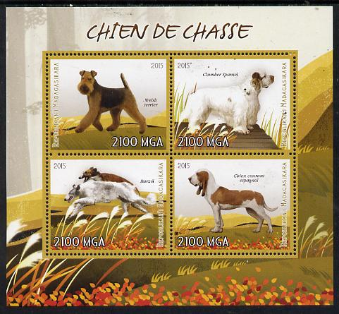 Madagascar 2015 Dogs perf sheetlet containing 4 values unmounted mint