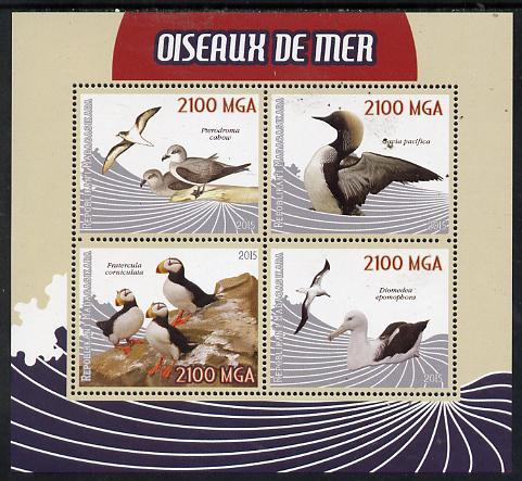 Madagascar 2015 Sea Birds perf sheetlet containing 4 values unmounted mint