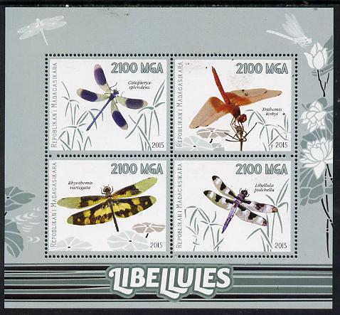 Madagascar 2015 Insects - Dragonflies perf sheetlet containing 4 values unmounted mint