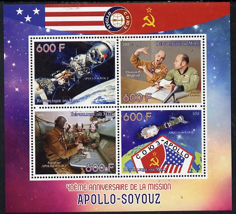 Mali 2015 Apollo-Soyuz perf sheetlet containing four values unmounted mint