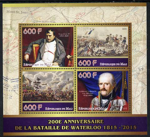 Mali 2015 Napoleon - 200th Anniversary of Battle of Waterloo perf sheetlet containing four values unmounted mint