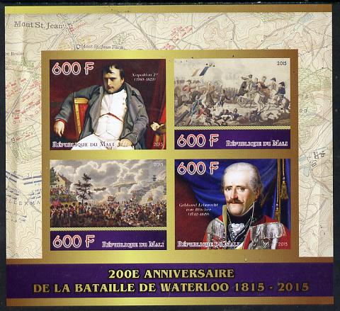 Mali 2015 Napoleon - 200th Anniversary of Battle of Waterloo imperf sheetlet containing four values unmounted mint