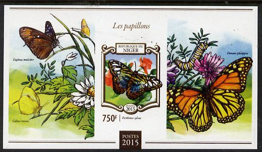 Niger Republic 2015 Butterflies #1 imperf s/sheet unmounted mint. Note this item is privately produced and is offered purely on its thematic appeal