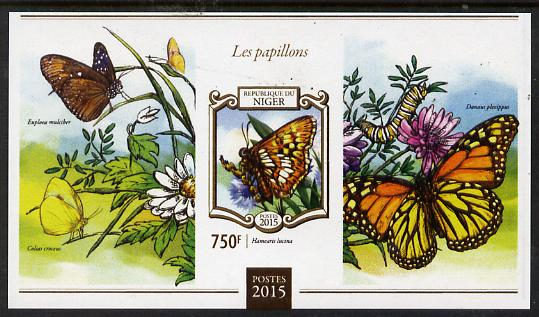 Niger Republic 2015 Butterflies #2 imperf s/sheet unmounted mint. Note this item is privately produced and is offered purely on its thematic appeal