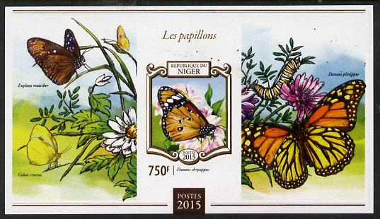 Niger Republic 2015 Butterflies #4 imperf s/sheet unmounted mint. Note this item is privately produced and is offered purely on its thematic appeal