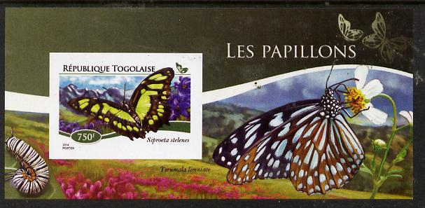 Togo 2015 Butterflies #03 imperf s/sheet unmounted mint. Note this item is privately produced and is offered purely on its thematic appeal