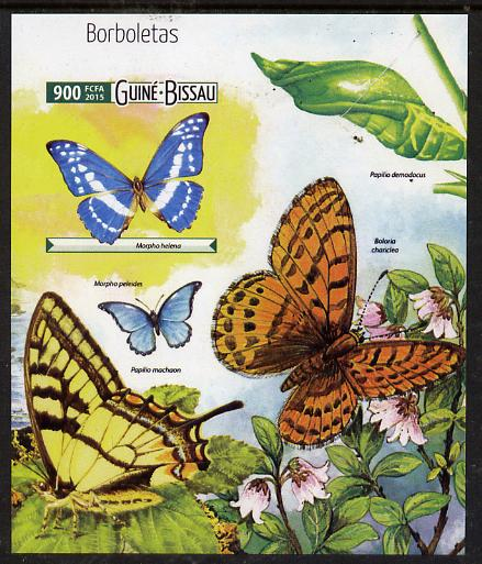 Guinea - Bissau 2015 Butterflies #1 imperf deluxe sheet unmounted mint. Note this item is privately produced and is offered purely on its thematic appeal