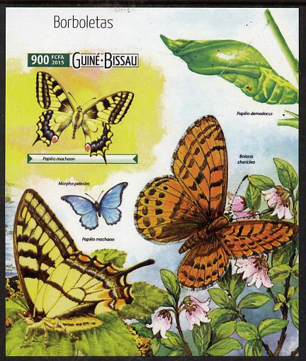 Guinea - Bissau 2015 Butterflies #2 imperf deluxe sheet unmounted mint. Note this item is privately produced and is offered purely on its thematic appeal