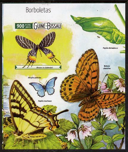 Guinea - Bissau 2015 Butterflies #3 imperf deluxe sheet unmounted mint. Note this item is privately produced and is offered purely on its thematic appeal