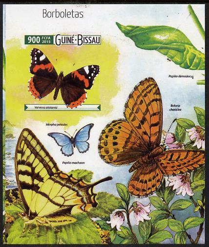 Guinea - Bissau 2015 Butterflies #4 imperf deluxe sheet unmounted mint. Note this item is privately produced and is offered purely on its thematic appeal