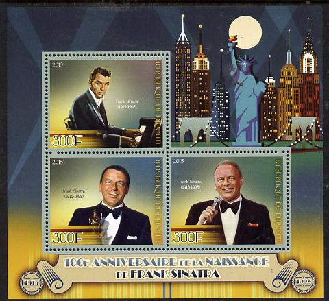 Djibouti 2015 Birth Centenary of Frank Sinatra perf sheet containing 3 values unmounted mint