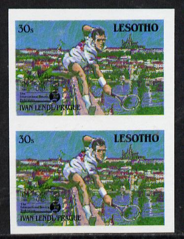Lesotho 1988 Tennis Federation 30s (Ivan Lendl) unmounted mint imperf proof pair (as SG 845)*
