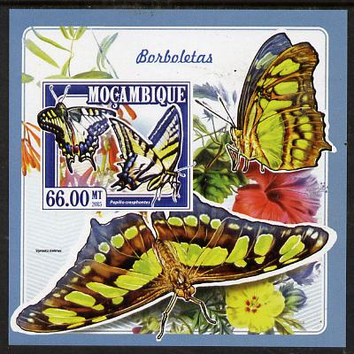Mozambique 2015 Butterflies #1 imperf deluxe sheet unmounted mint. Note this item is privately produced and is offered purely on its thematic appeal