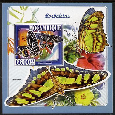 Mozambique 2015 Butterflies #3 imperf deluxe sheet unmounted mint. Note this item is privately produced and is offered purely on its thematic appeal