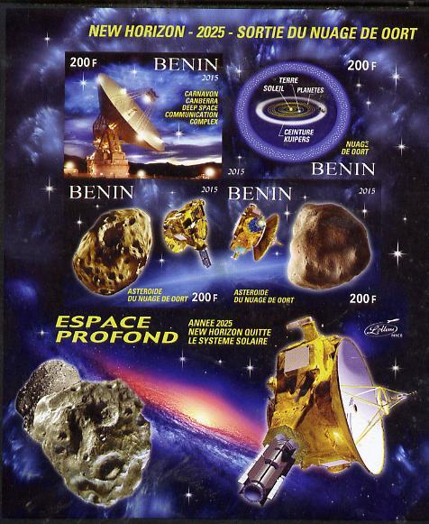 Benin 2015 50thAnniversary of ELDO #3 imperf sheetlet containig 4 values unmounted mint