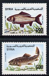 Syria 1989 Fish set of 2 unmounted mint, SG 1746-47