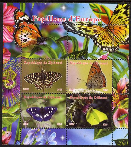 Djibouti 2015 Butterflies of Europe #2 perf sheetlet containing 4 values unmounted mint. Note this item is privately produced and is offered purely on its thematic appeal