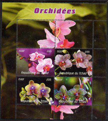 Chad 2015  Orchids perf sheetlet containing 4 values unmounted mint. Note this item is privately produced and is offered purely on its thematic appeal, it has no postal validity