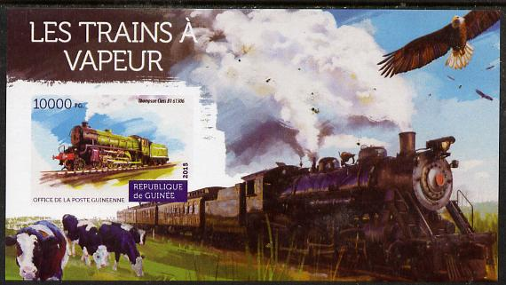 Guinea - Conakry 2015 Steam Trains #2 imperf deluxe sheet unmounted mint. Note this item is privately produced and is offered purely on its thematic appeal