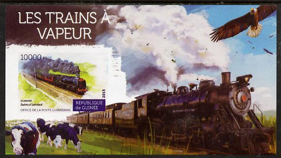 Guinea - Conakry 2015 Steam Trains #4 imperf deluxe sheet unmounted mint. Note this item is privately produced and is offered purely on its thematic appeal