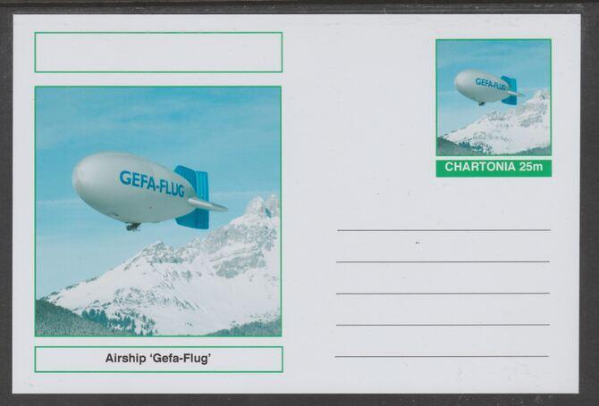 Chartonia (Fantasy) Airships & Balloons - Geta-Flug postal stationery card unused and fine