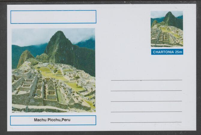 Chartonia (Fantasy) Landmarks - MachuPicchu, Peru postal stationery card unused and fine
