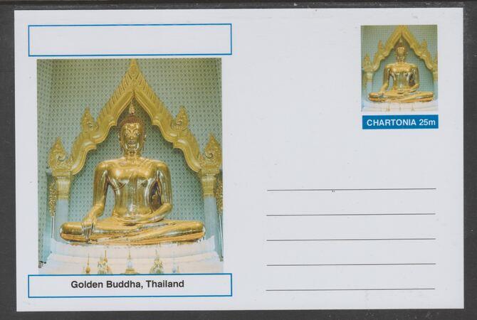 Chartonia (Fantasy) Landmarks - Golden Buddha, Thailand postal stationery card unused and fine