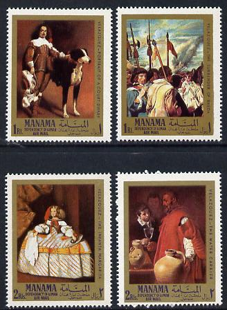 Manama 1968 Paintings by Velazquez perf set of 4 (Mi 65-8A) unmounted mint