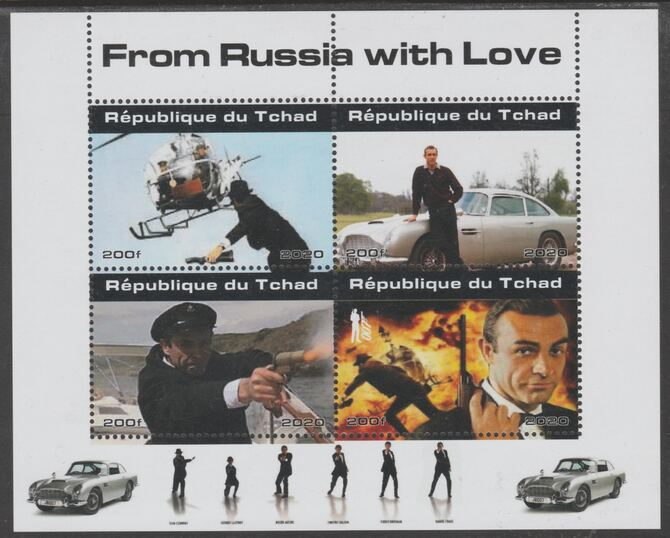 Chad 2020 James Bond - From Russia With Love perf sheetlet containing 4 values unmounted mint. Note this item is privately produced and is offered purely on its thematic ...