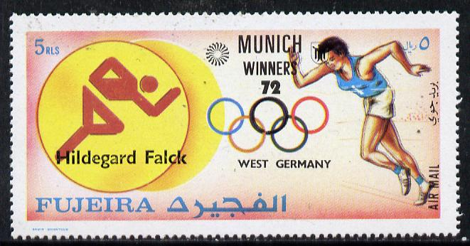 Fujeira 1972 Running (Hildegard Falck) from Olympic Winners set of 25 (Mi 1433) unmounted mint