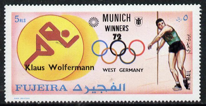Fujeira 1972 Javelin (Klaus Wolfermann) from Olympic Winners set of 25 unmounted mint (Mi 1434)
