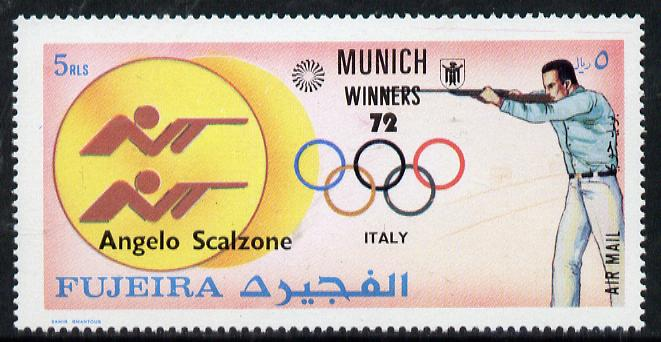 Fujeira 1972 Rifle (Angelo Scalzone) from Olympic Winners set of 25 unmounted mint (Mi 1442)