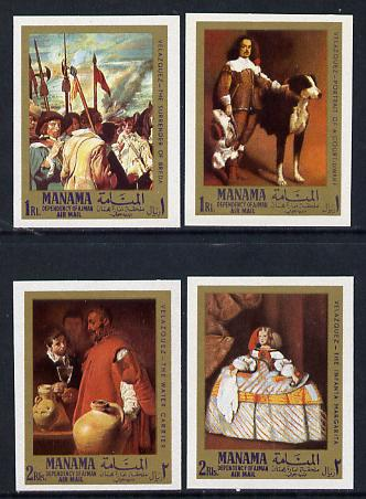Manama 1968 Paintings by Velazquez imperf set of 4 unmounted mint (Mi 65-8B)