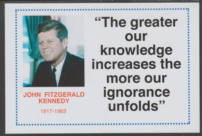 Famous Quotations - John F Kennedy on 6x4 in (150 x 100 mm) glossy card, unused and fine