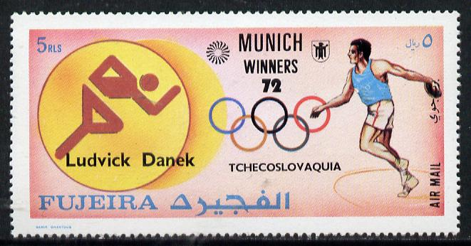 Fujeira 1972 Discus (Ludvick Danek) from Olympic Winners set of 25 unmounted mint (Mi 1451)