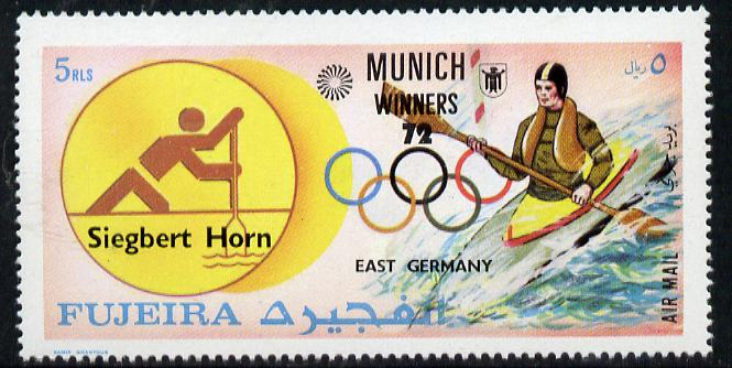 Fujeira 1972 Canoeing (Siegbert Horn) from Olympic Winners set of 25 unmounted mint (Mi 1436)