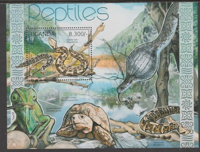 Uganda 2012 Reptiles perf souvenir sheet  containing 1 value unmounted mint.t.