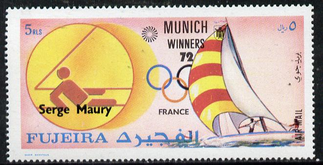 Fujeira 1972 Sailing (Serge Maury) from Olympic Winners set unmounted mint (Mi 1441)