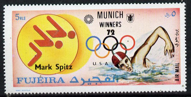 Fujeira 1972 Swimming (Mark Spitz) from Olympic Winners set of 25 (Mi 1454) unmounted mint