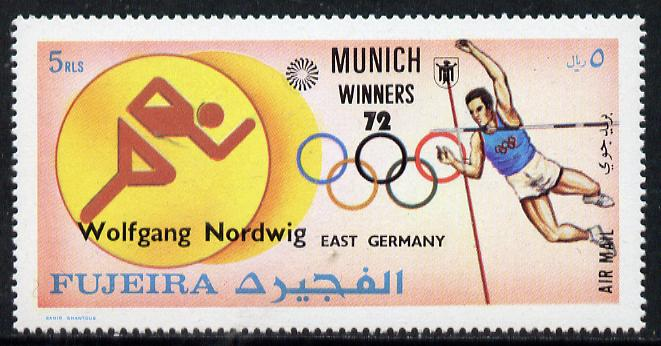 Fujeira 1972 Pole Vault (Wolfgang Nordwig) from Olympic Winners set of 25 (Mi 1435) unmounted mint