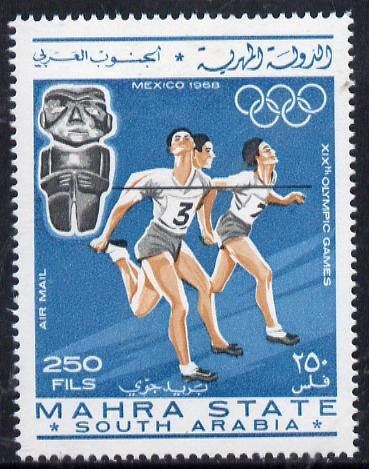 Aden - Mahra 1967 Running 250f from Olympics perf set unmounted mint (Mi 28A)