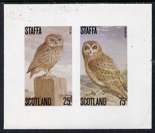 Staffa 1979 Owls imperf set of 2 values (25p & 75p) unmounted mint