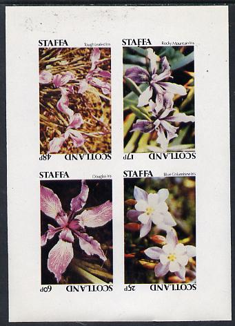 Staffa 1979 Irises imperf  set of 4 values (17p to 60p) unmounted mint