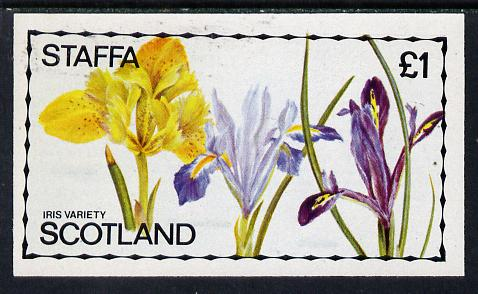 Staffa 1979 Irises imperf  souvenir sheet (�1 value) unmounted mint