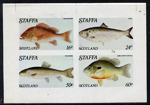 Staffa 1979 Fish #04 (Snapper, Shad, etc) imperf  set of 4 values (16p to 60p) unmounted mint