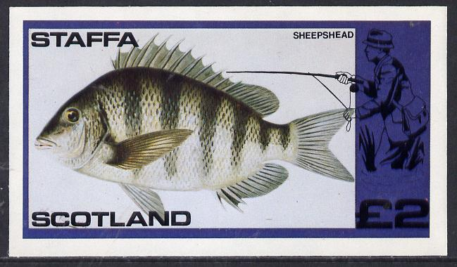 Staffa 1979 Fish #04 (Sheepshead) imperf  deluxe sheet (�2 value) unmounted mint